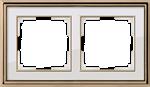 Изображение Рамка на 2 поста (золото/белый)
