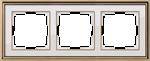 Изображение Рамка на 3 поста (золото/белый)