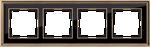 Изображение Рамка на 4 поста (золото/черный)