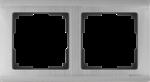 Изображение Рамка на 2 поста (глянцевый никель)