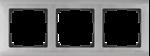 Изображение Рамка на 3 поста (глянцевый никель)