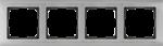 Изображение Рамка на 4 поста (глянцевый никель)