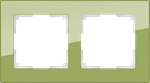 Изображение Рамка на 2 поста (фисташковый)