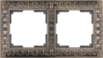 Изображение Рамка на 2 поста  (бронза)
