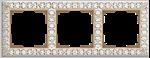Изображение Рамка на 3 поста (белое золото)