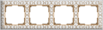 Изображение Рамка на 4 поста (белое золото)