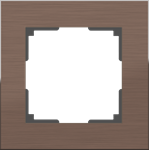 Изображение Рамка на 1 пост (коричневый алюминий)