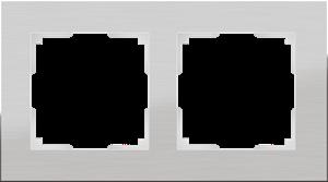 Изображение Рамка на 2 поста (алюминий)