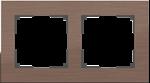 Изображение Рамка на 2 поста (коричневый алюминий)
