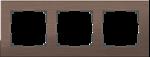 Изображение Рамка на 3 поста (коричневый алюминий)