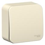 Изображение SE Blanca наруж Молочный Выключатель 1-клавишный 10А, 250B, изолир. пластина