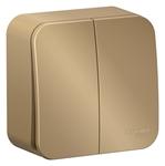 Изображение SE Blanca наруж Титан Выключатель 2-клавишный 10А, 250B, изолир. пластина