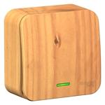 Изображение SE Blanca наруж Ясень Выключатель 1-клавишный с подсветкой 10А,250B, изолир. пластина