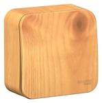 Изображение SE Blanca наруж Ясень Выключатель 1-клавишный с самовозвратом, 10А, 250В, изолир. пластина