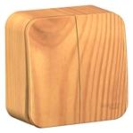 Изображение SE Blanca наруж Ясень Выключатель 2-клавишный 10А, 250B, изолир. пластина