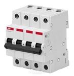 Изображение Автоматичесикий выключатель 4P 10A C 4.5кА BMS414C10 ABB
