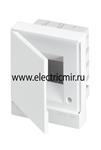 Изображение Бокс в нишу Basic E ЩРв-П 4М белая непрозрачная дверь (c клемм) ABB