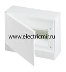 Изображение Бокс настенный Basic E ЩРн-П 12М белая непрозрачная дверь (с клемм) ABB