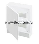 Изображение Бокс настенный Basic E ЩРн-П 24М белая непрозрачная дверь (с клемм) ABB