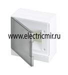Изображение Бокс настенный Basic E ЩРн-П 6М серая прозрачная дверь (с клемм) ABB