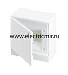 Изображение Бокс настенный Basic E ЩРн-П 6М белая непрозрачная дверь (с клемм) ABB