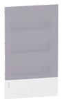 Изображение SE Mini Pragma Бокс в нишу 3ряда/36модулей белый с прозрачной дверью и шинами