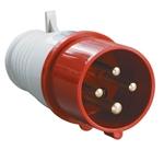 Изображение Вилка кабельная 16А 3Р+E IР44 переносная 380В 014 (PSR02-016-4) IEK