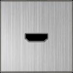 Изображение Накладка для розетки HDMI (глянцевый никель)