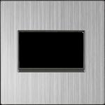 Изображение Накладка для двойной розетки Еthernet RJ-45  (глянцевый никель)