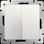 Изображение Выключатель двухклавишный (перламутровый рифленый)