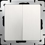 Изображение Выключатель двухклавишный проходной (перламутровый рифленый)