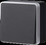 Изображение Выключатель одноклавишный Gallant (черный с серебром)