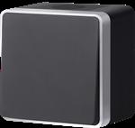 Изображение Выключатель одноклавишный влагозащищенный Gallant (черный с серебром)