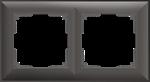 Изображение Рамка на 2 поста (серо-коричневый)