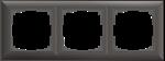 Изображение Рамка на 3 поста (серо-коричневый)
