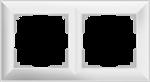 Изображение Рамка на 2 поста (белый) Fiore