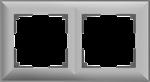 Изображение Рамка на 2 поста (серебряный) Fiore