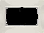 Изображение Рамка для двойной розетки (слоновая кость, basic) Snabb basic