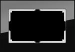 Изображение Рамка для двойной розетки (черный) Favorit