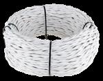 Изображение Ретро кабель витой 2х1,5 (белый) WERKEL