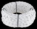 Изображение Ретро кабель витой 2х2,5 (белый) WERKEL