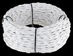 Изображение Ретро кабель витой 3х2,5 (белый) WERKEL