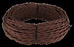 Изображение Ретро кабель витой 2х1,5 (коричневый) WERKEL