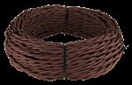Изображение Ретро кабель витой 3х1,5 (коричневый) WERKEL