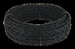 Изображение Ретро кабель витой 2х1,5 (черный) WERKEL