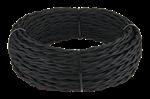 Изображение Ретро кабель витой 3х1,5 (черный) WERKEL
