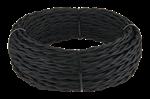 Изображение Ретро кабель витой 3х2,5 (черный) WERKEL