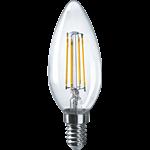 Изображение Лампа светодиодная LED 4вт Е14 теплый свеча FILAMENT (71307 NLL-F-C35)