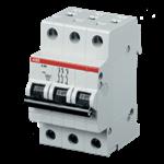 Изображение ABB S203 C100 Автоматический выключатель 3P 100А (C) 6kA