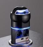 Изображение VoltPort Bluetooth выдвижная розетка с Bluetooth, LED подсветкой и USB зарядкой